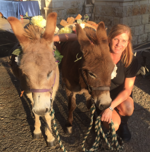 amy and some mini donkey